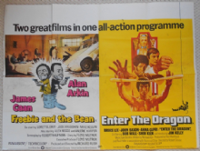 Freebie and the Bean/Enter the Dragon, Original Combo UK Quad Poster, Bruce Lee classic!, '74